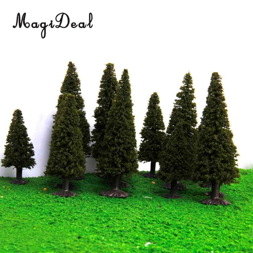 В штучной упаковке 15 шт. многомасштабная модель кедра Деревья Поезд дорожка улица железная дорога здание диорама пейзаж Хо N Z
