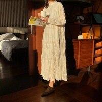 Spring Summer Long Loose Chiffon Dress Women Ruffle Plus Size Dress Sweet Robe Femme Maxi Vestidos