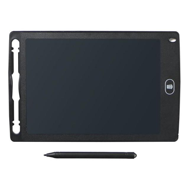 Black 8.5 inch Portable LCD Writing Tablet Electronic Notepad Drawing Graphics Tablet Board with Stylus Pen with Battery
