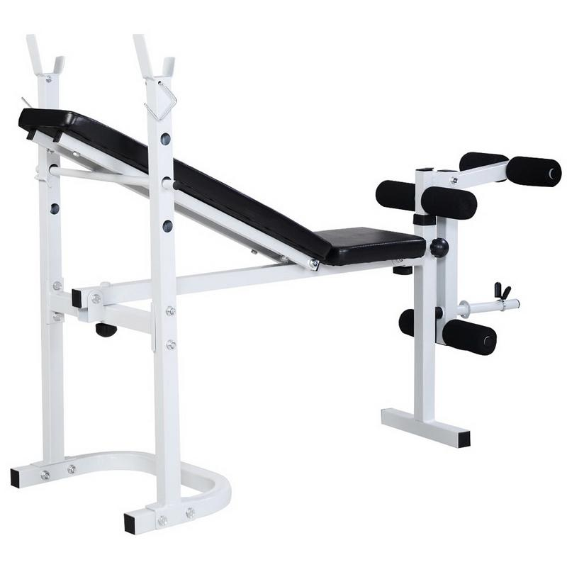 N-008 Fitness Weight Bench White Black Good Quality Useful Exercise Equipment N-008 Fitness Weight Bench White Black Good Quality Useful Exercise Equipment