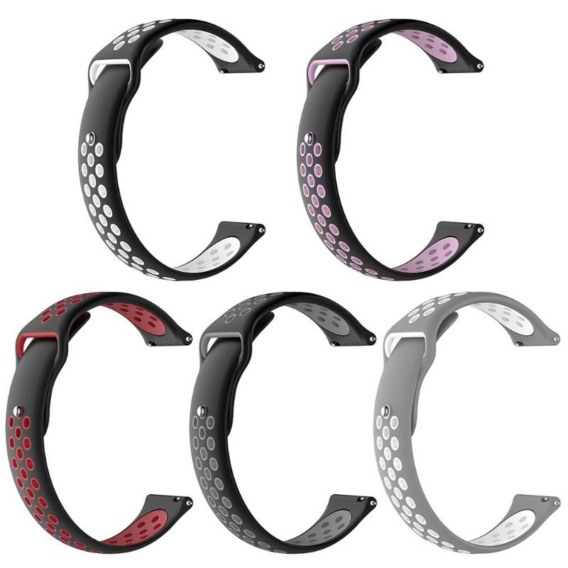 Silicone Double Color Wristband 20mm Watch Band Wrist Strap for Ticwatch C2