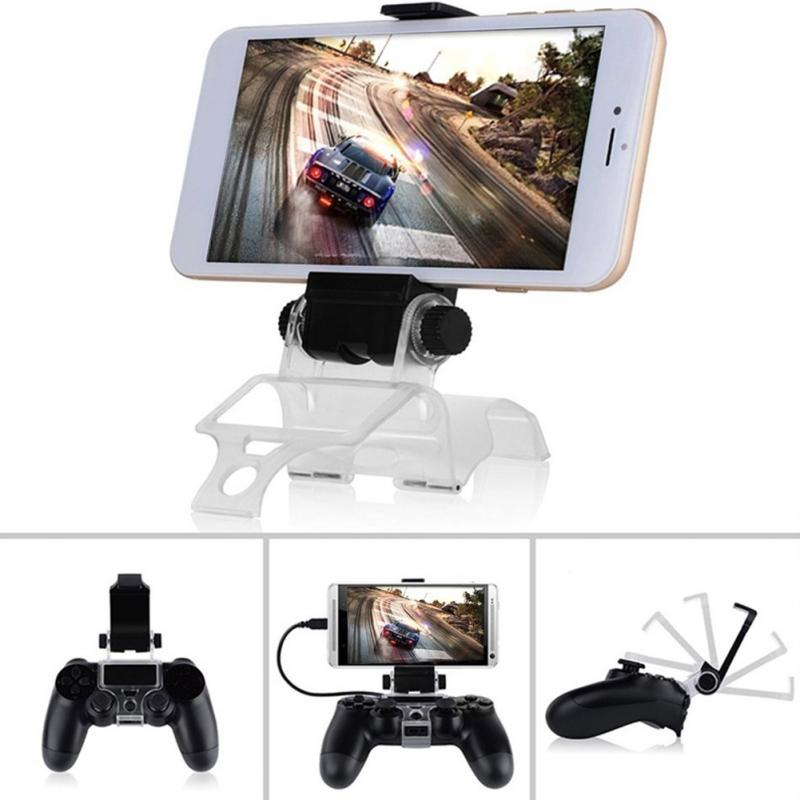 PS4 PS 4 Cell Mobile Phone Smart Clip Clamp Holder Stand Bracket For PS4 Slim PS4 Pro Game Controller DualShock 4 With USB #1025