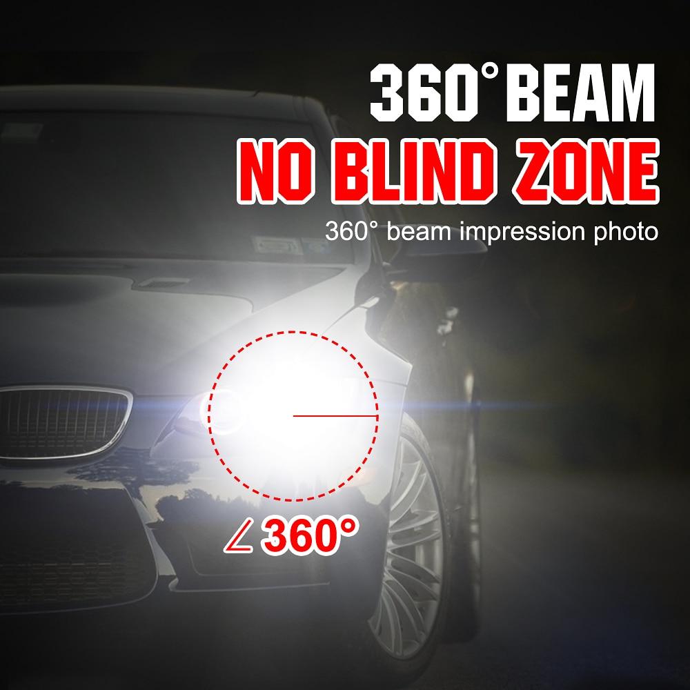 Image 2 - Two pieces LED H1 H3 H7 H4 H13 H11 9004 880 9007 Auto S2 Car Headlight Bulbs 72W 8000LM 6500K for 9V to 36V 200M lighting range-in Car Headlight Bulbs(LED) from Automobiles & Motorcycles
