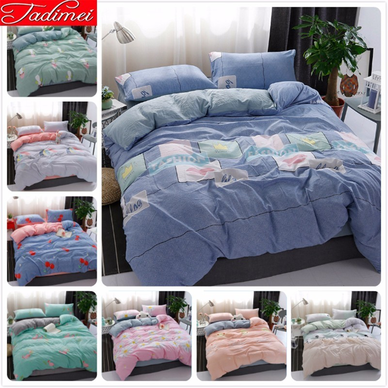 Duvet Cover Bedding Set Adult Kids Child Soft 100% Washed Cotton Bed Linen Single Twin Full Queen King Size Bedspreads 180x220cmDuvet Cover Bedding Set Adult Kids Child Soft 100% Washed Cotton Bed Linen Single Twin Full Queen King Size Bedspreads 180x220cm