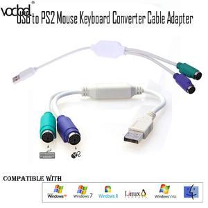 "Image 2 - 31 ס""מ באיכות גבוהה USB לps/2 כבל מתאם ממיר עכבר מקלדת ממיר מתאם עבור PS2 ממשק מחבר חדש"
