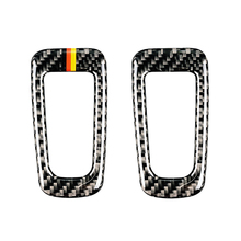 For Mercedes Benz C Class W205 C180 C200 C300 GLC260 Carbon Fiber Car Electronic Hand Brake P Button Frame Cover