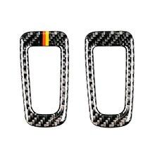 Para mercedes benz classe c w205 c180 c200 c300 glc260 carro de fibra carbono eletrônico freio mão p botão quadro capa