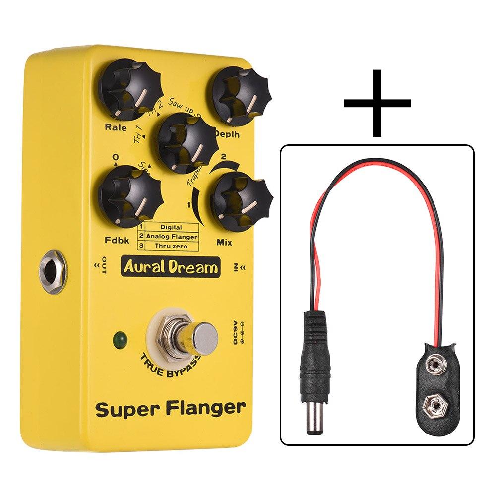 buy aural dream super flanger guitar effect pedal 3 flanger modes aluminum. Black Bedroom Furniture Sets. Home Design Ideas
