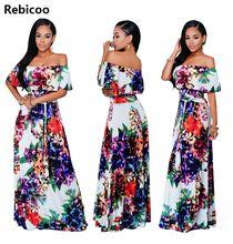 2018 New Bohemian Dress Autumn Winter Printing Long Sleeve Femme Dresses Fit and Flare dresses Casual Robe Longue Women dress