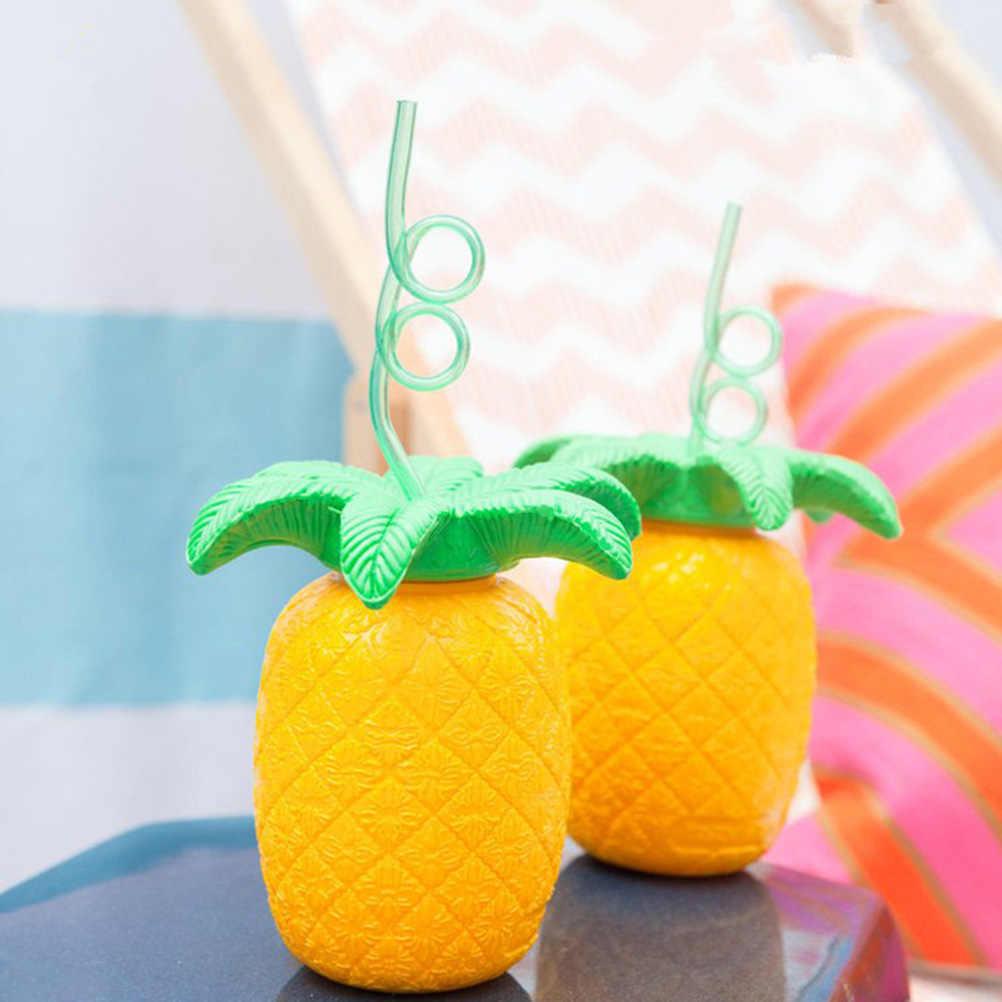 1 шт. соломенная бутылка для воды ананас дети пластиковый портативный стакан Сиппи чашки для лета пляж фотография праздник