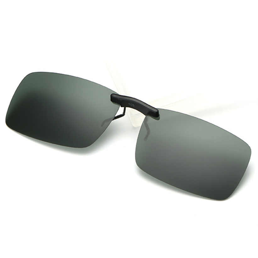 97cf601866 ... Rimless Polarized Sunglasses Clip on Nose Sun Glasses Mens Driving  Night Vision Goggles Eyewear Flip Myopia