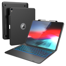 купить For iPad Pro 12.9 2018 Case Laptop Design 7 Colors Backlight USA Bluetooth Keyboard Cover For iPad Pro 12.9 Inch 2018 Case Stand по цене 843.46 рублей