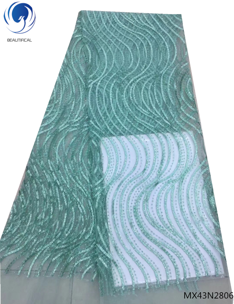 Beautifical Net Lace African Fabric Hot Selling Nigeria African Green Net Laces 2019 Embroidered Lace Fabric Design MX43N28Beautifical Net Lace African Fabric Hot Selling Nigeria African Green Net Laces 2019 Embroidered Lace Fabric Design MX43N28