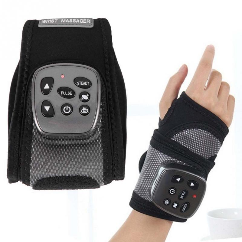 Hot Multifunctional Electric Wrist Heating Brace Infrared Pulse Wrist Therapy Massager US Plug