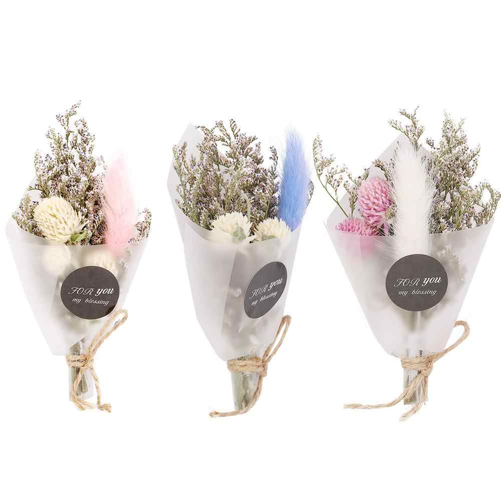 Mini one  Bouquet Natural Dried Flower Wedding Party Home Decoration Dried Flower Holiday Gift Flowers Shop Home Decor