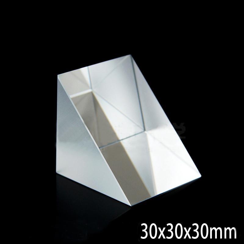 30x30x30mm Optical Glass Prisms Triangular Lsosceles Right Angle K9 Prisms Lens30x30x30mm Optical Glass Prisms Triangular Lsosceles Right Angle K9 Prisms Lens