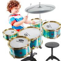 2019 New Wireless Instrument Toys for Girls Boy Baby Classic Jazz Drum Drum Kids Musical Party Music Birthday Gift From Kids