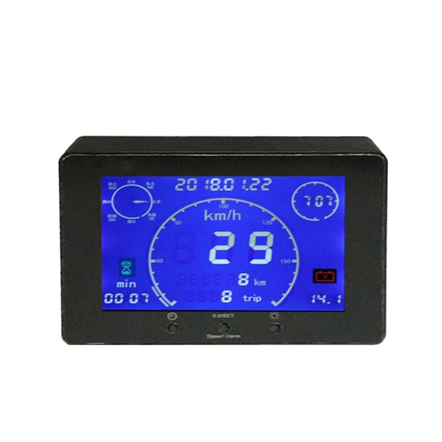 9-36 V Multifunzione Segnale GPS Tachimetro Contachilometri Voltmetro Gauge Tempo Tester di Ora per il Camion Dell'automobile