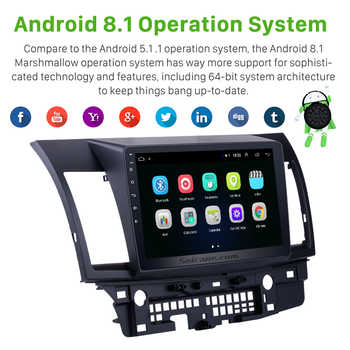 Seicane For Mitsubishi Lancer-ex 2008 2009 2010 2011 2012 2013 2014 2015 Android 8.1 10.1 inch Car GPS Audio Multimedia Player