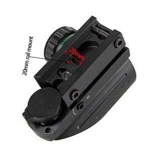 Image 4 - 전술 반사 적색 녹색 레이저 4 레티클 홀로그램 투영 도트 시야 범위 에어건 시력 사냥 11mm/20mm 레일 마운트 AK