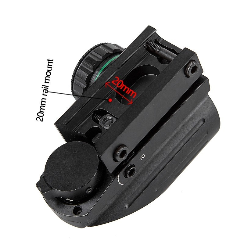 Image 4 - Tactical Reflex Red Green Laser 4 Reticle Holographic Projected Dot Sight Scope Airgun sight Hunting 11mm/20mm Rail Mount AK-in Riflescopes from Sports & Entertainment