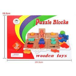 Bebê animal em forma de blocos de quebra-cabeça de madeira jigsaw forma jogo de correspondência brinquedos educativos