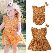 38dc3beb5 Verano amarillo niño niños bebé hermana Floral mono vestido de fiesta de  verano de la familia de ropa