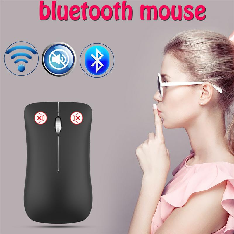 Fashion Dual Mode Bluetooth 2.4 G Wireless 1600DPI Gaming Mouse For Laptop Computer Mice With USB Receiver Rechargeable Battery