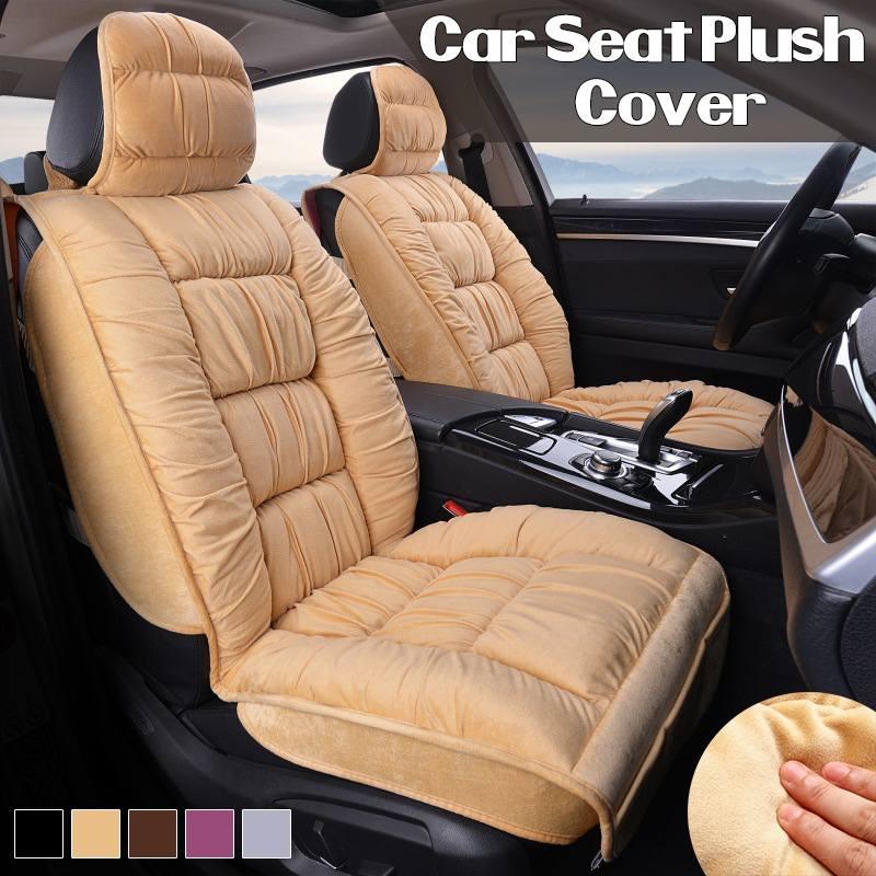 っUniversal Car Seat Covers Plush Winter Warmer Seat Covers Cushion Interior Accessories For All