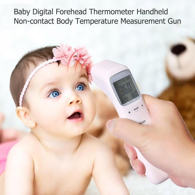 Mutil-function Baby Adult Digital Thermometer Infrared Forehead Body Thermometer Gun Non-contact Temperature Measurement Device