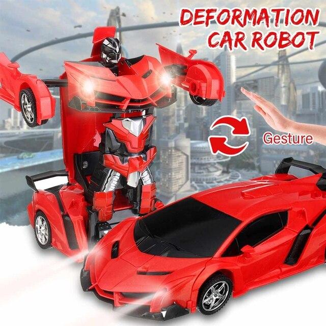 18 Gesture Robots Manual Sensing Rc Modelos Control Juguete Transformación 1 Regalo Colisión De Coche Transformador Deformación Remoto L3Ajc4q5R