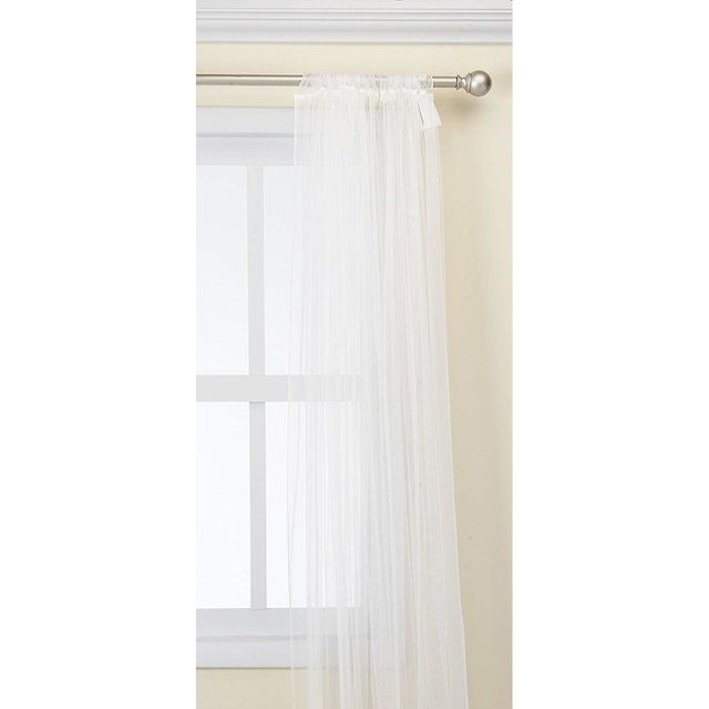 White Lace Curtains 2 Panels 98 X 110 1 Pair