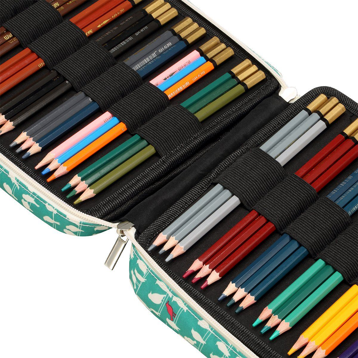 150 Slots Colored Pencils Universal Pencil Bag Pen Case School Stationery Pencil Case Drawing Painting Storage Pouch Pencil Box