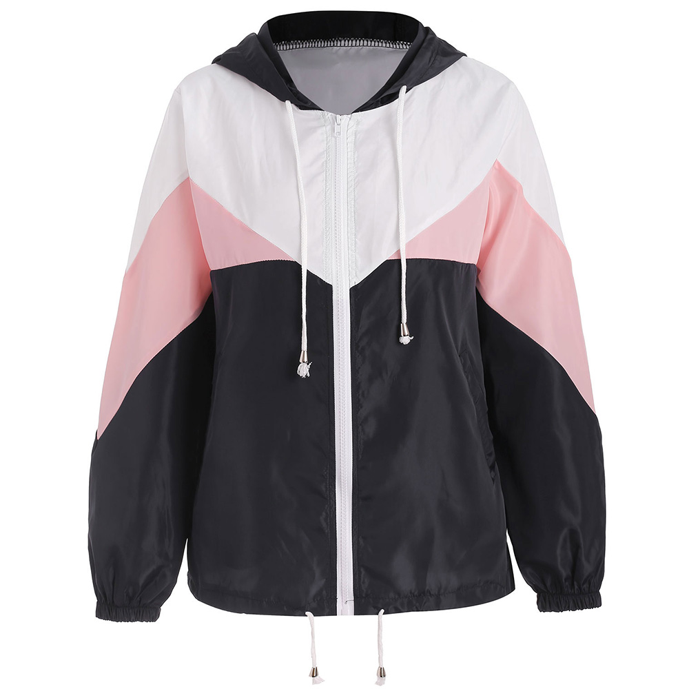 Spring Autumn Women Hooded   Jackets   Causal Windbreaker Women   Basic     Jacket   Coats Zipper Lightweight   Jackets   Bomber Famale Outwear