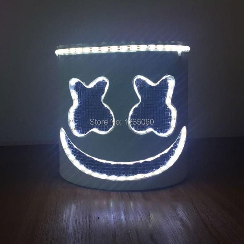 DJ Marshmello Mask Hard Plastic Full Helmet Cosplay Music Fans Prop Halloween