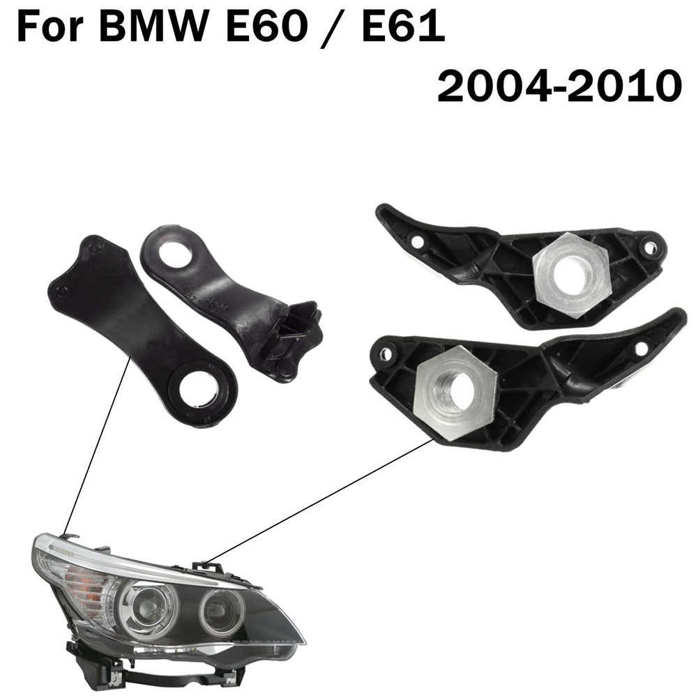 2 Pairs Light Holder Black Hittebestendige Auto Clips Set Halogeen Koplamp E61 Reparatie Beugels Gemakkelijk Installeren E60 520 523Li voor BMW