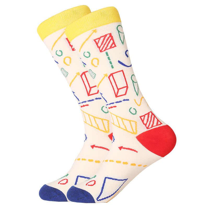 MYORED милые хлопковые толстве длинные носки для мужчин и женщин на каждый день платье в деловом стиле для фруктов, молока мультфильм животный узор для подарочные носки фабрики