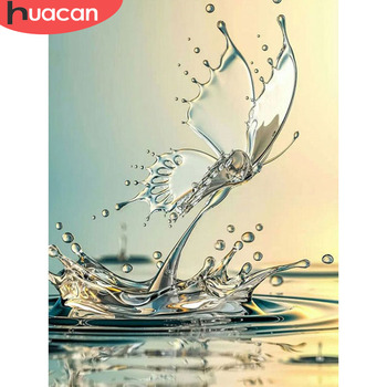 HUACAN 5d Diamond Painting Butterfly Full Square Mosaic Embroidery Sale Home Decor Gift - discount item  39% OFF Arts,Crafts & Sewing