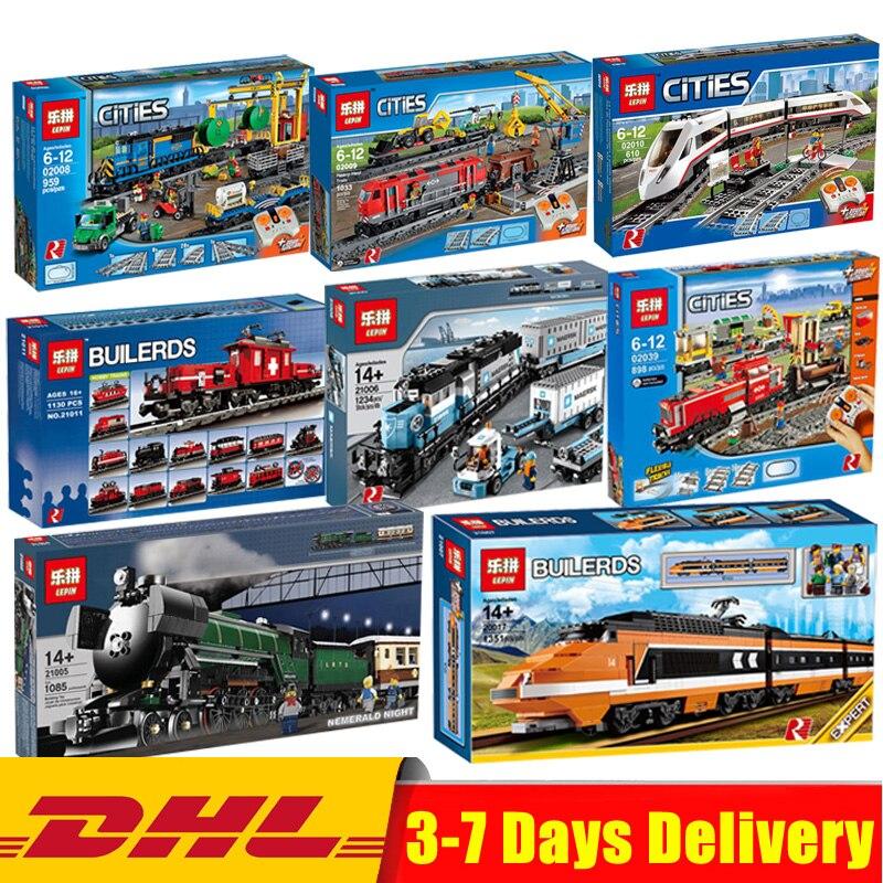 Lepin Technic Legoingly Train 02008 02009 02010 02039 21005 21006 21007 21011 21029 10194 10219 Buillding Blocs Briques Jouets
