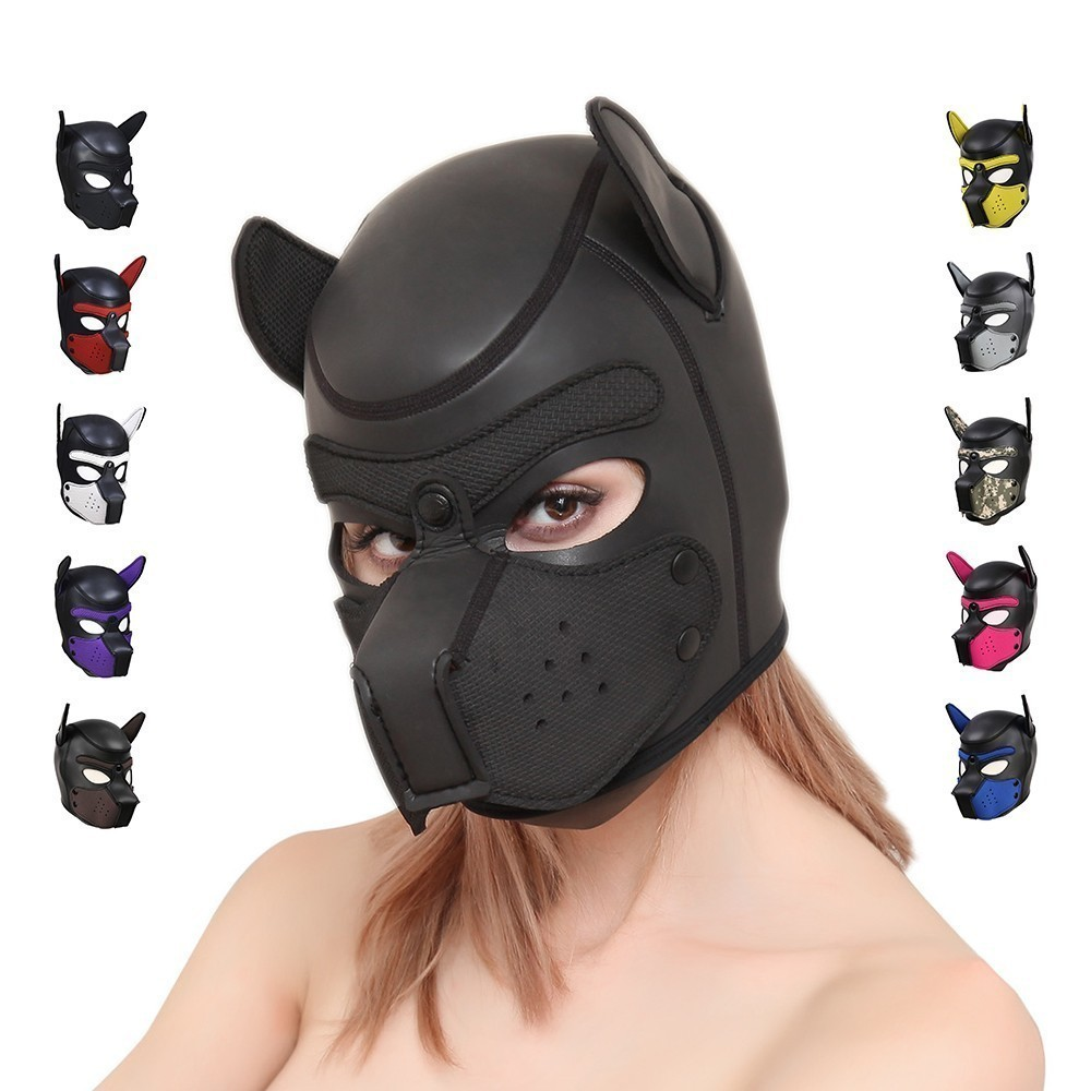 Erotic Sexy Puppy Play Hoods Bondage Slave Rubber Pup Hood Mask Fetish Couples Flirting Men Gay Adult Games