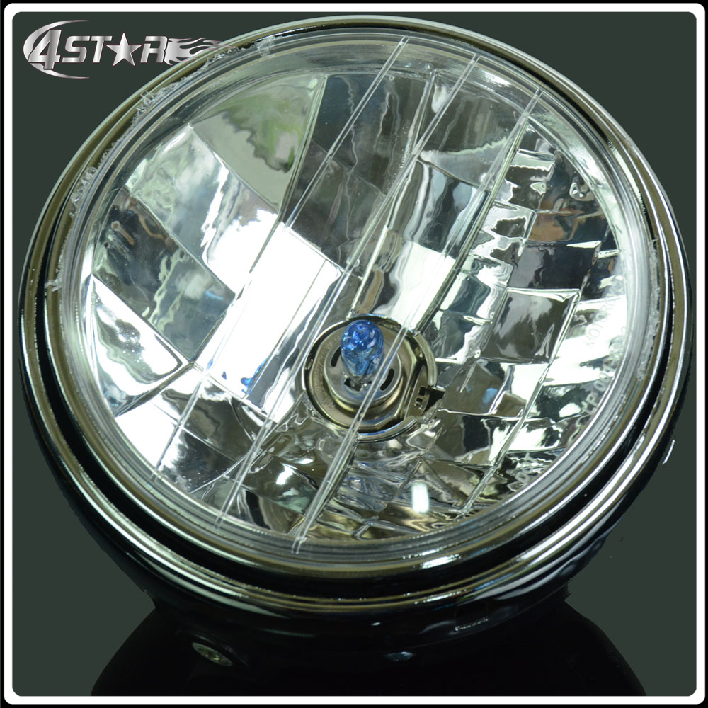 Motorcycle Round Chrome Halogen <font><b>Headlights</b></font> Head Light Lamps For <font><b>HONDA</b></font> CB400 CB500 CB1300 Hornet 250 600 900 VTEC250 <font><b>VTR250</b></font> image