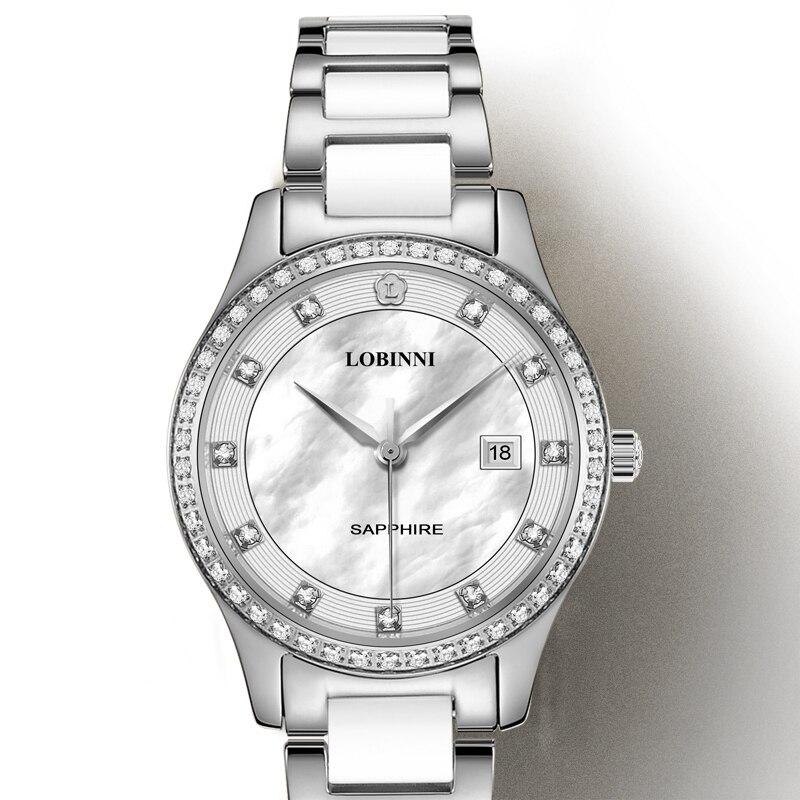 Suisse montres de luxe marque LOBINNI japon importation montre à Quartz femmes mode diamant résistant à l'eau dame horloge L2005L