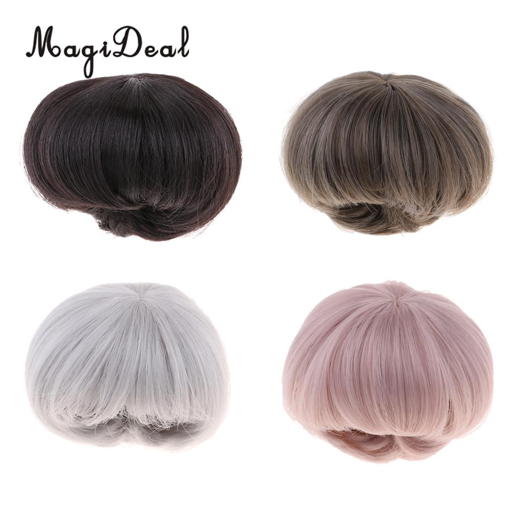 1/3 BJD Stylish High-temperature Wire Curly Hair Wigs Short Hairpiece For Dollfie For Uncle Male Doll Making Supplies Accessory