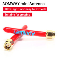 Aomway ANT014 5.8 GHz 2.5dBi Omnidirectional מיני FPV אנטנת SMA/RP-SMA זכר מחבר חוט אביזרי Accs עבור FPV Transmitt(China)