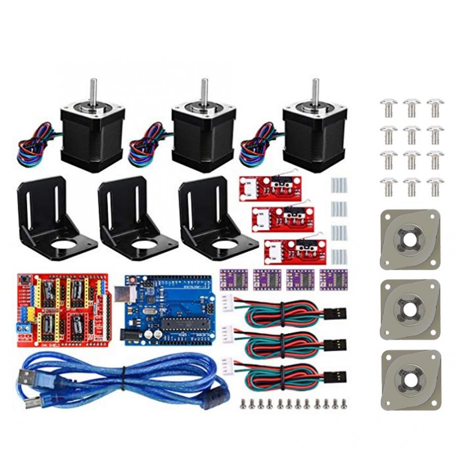 3D Printer CNC Kit For Arduino +3 Shock Absorbers 3D Printer Accessories