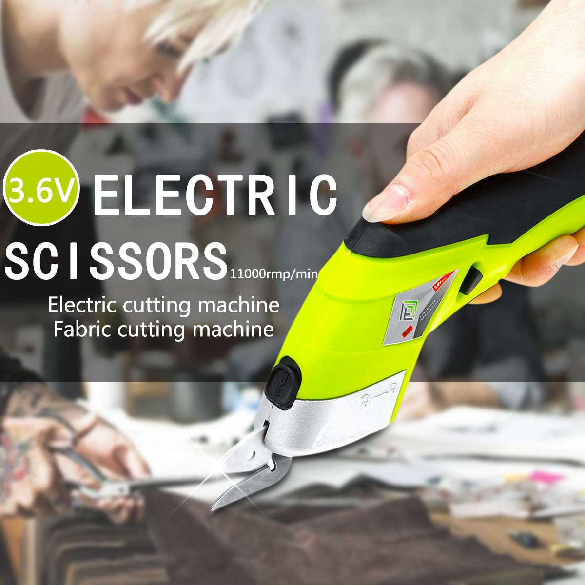 DOERSUPP Multipurpose 110V-220V Electric Scissors Cordless Chargeable Fabric Sewing Scissors Handheld Hand Tools ElectricDOERSUPP Multipurpose 110V-220V Electric Scissors Cordless Chargeable Fabric Sewing Scissors Handheld Hand Tools Electric