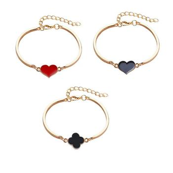 Simple And Stylish Lady Bracelet Europe And America Vintage Peach Heart Pattern Accessories Beautiful Atmosphere Gift пандора браслет с шармами