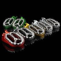 CNC MX Aluminum Dirt Bike Pit Motocross Foot Peg Foot Rests Pedal Footpeg For Husqvarna KTM 85cc 530cc All 2005 2015 Footrests