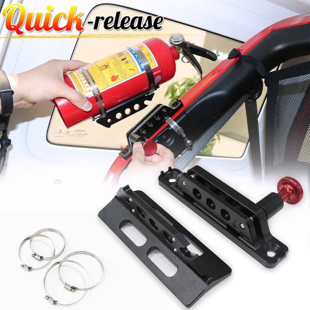 Pour Jeep pour Wrangler JL JK TJ réglable barre de rouleau de feu extincteur support de montage pince en aluminium ATV UTV pour Ford F-150/Ranger