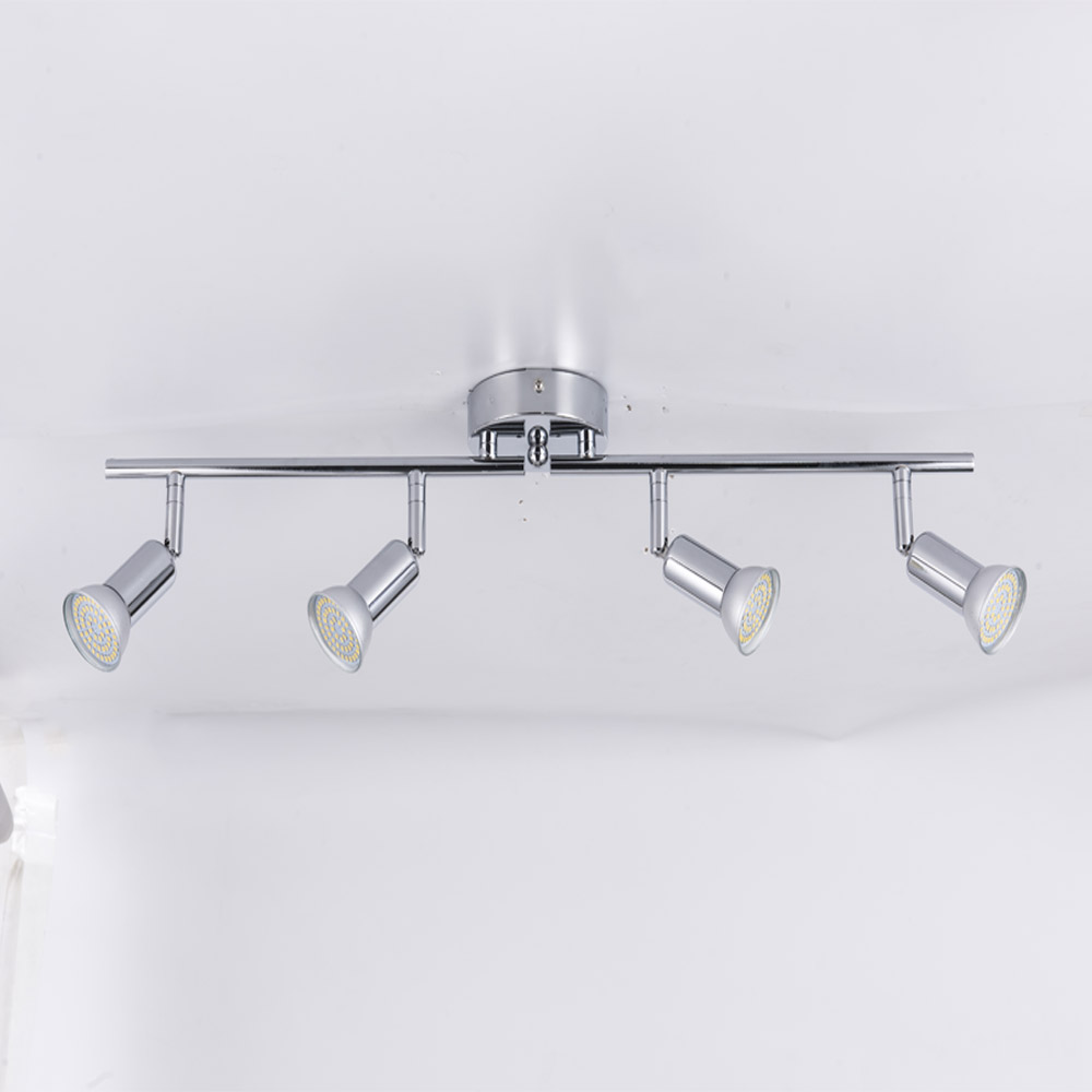 Rotatable led ceiling light angle adjustable showcase lamp with GU10 led bulb Living Room LED cabinet spot lighting(China)